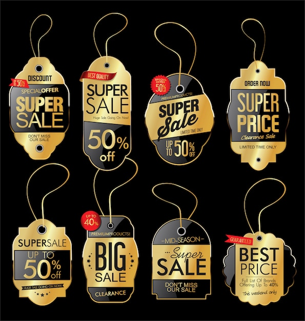 Preço de papel Vetor Premium