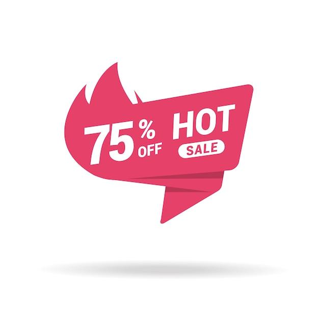 Prêmio de etiqueta de preço de venda quente Vetor Premium