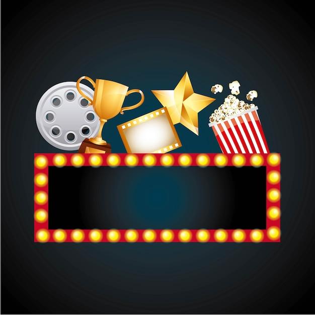 Prêmio de filme Vetor Premium