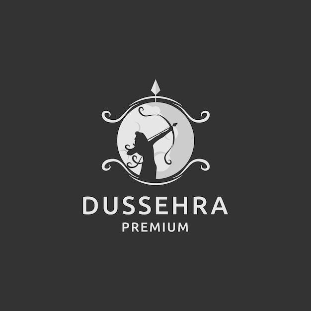 Prêmio de logotipo dussehra Vetor Premium