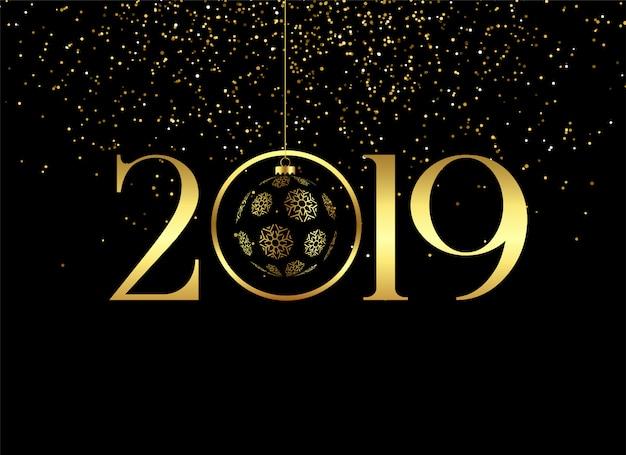 Premium feliz ano novo 2019 fundo Vetor grátis