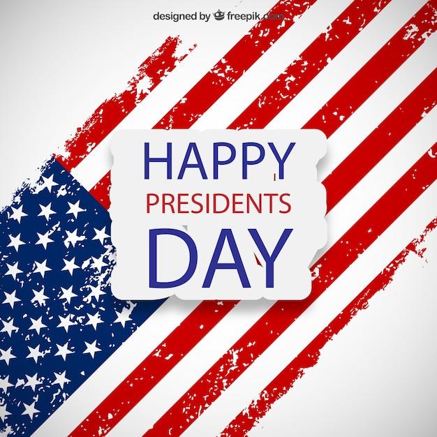 Presidentes cartão feliz do dia Vetor grátis