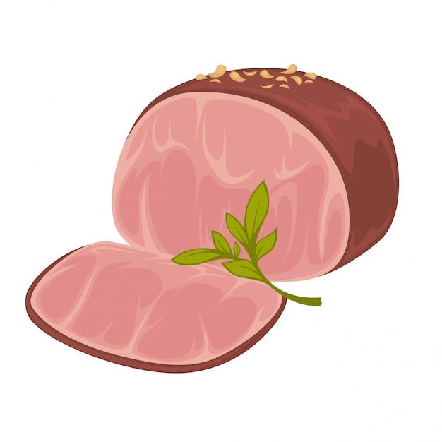 Presunto - ícone de carne de porco defumada Vetor Premium