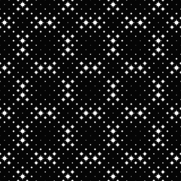Preto e branco geométrico curvo estrela de fundo Vetor Premium
