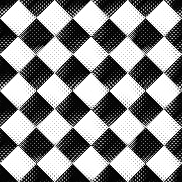 Preto e branco sem costura abstrata de fundo quadrado Vetor Premium