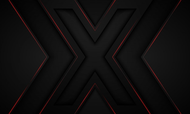 Preto e símbolo x fundo. Vetor Premium