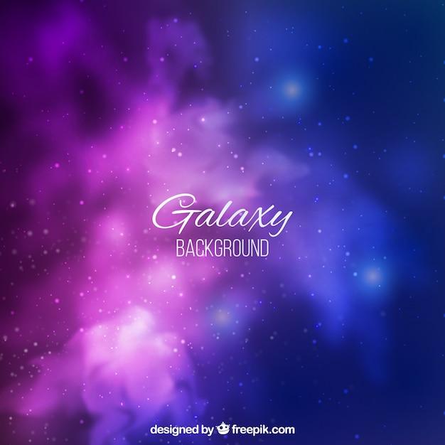 Pretty galaxy background Vetor grátis