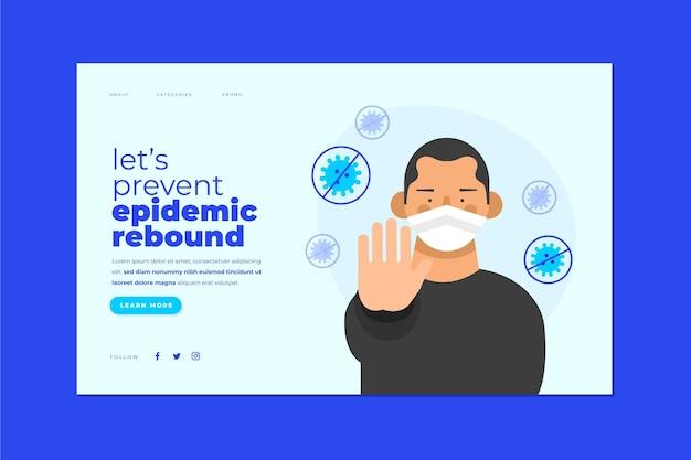Prevenir a recuperação epidêmica Vetor Premium