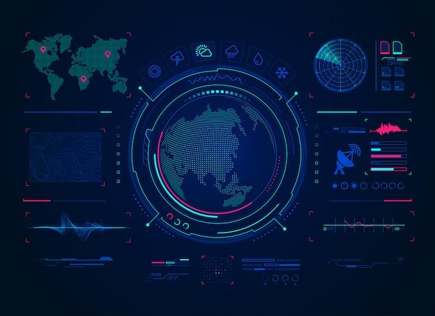 Previsão digital Vetor Premium