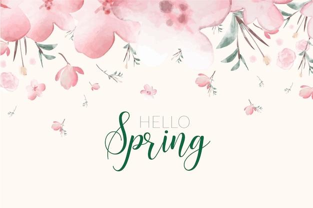 Primavera floral fundo Vetor grátis