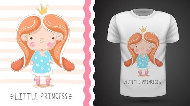 Princesinha - ideia para imprimir t-shirt Vetor Premium
