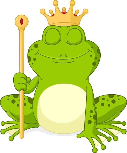 Príncipe Sapo Dos Desenhos Animados Vetor Premium