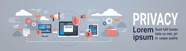 Privacidade de dados infográfico isométrico gdpr Vetor Premium