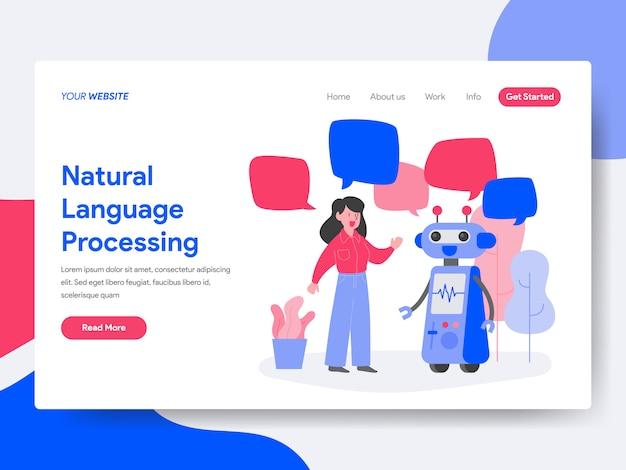 Processamento de linguagem natural Vetor Premium