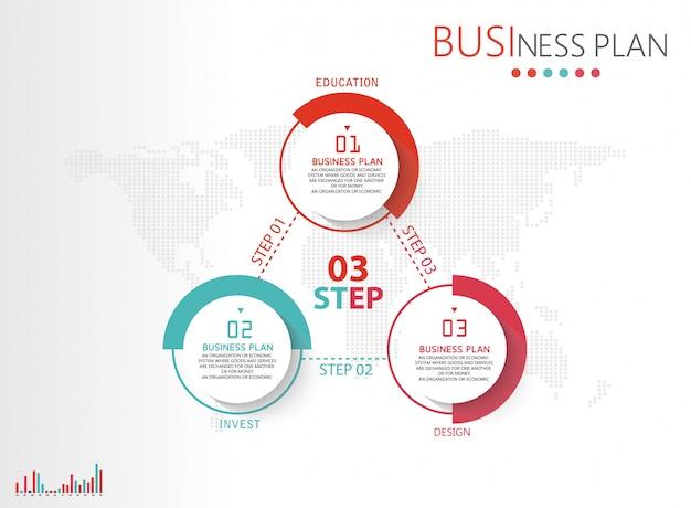 Processo de apresentação de diagramas, estrutura de tópicos em negócios, educação para investimentos. Vetor Premium