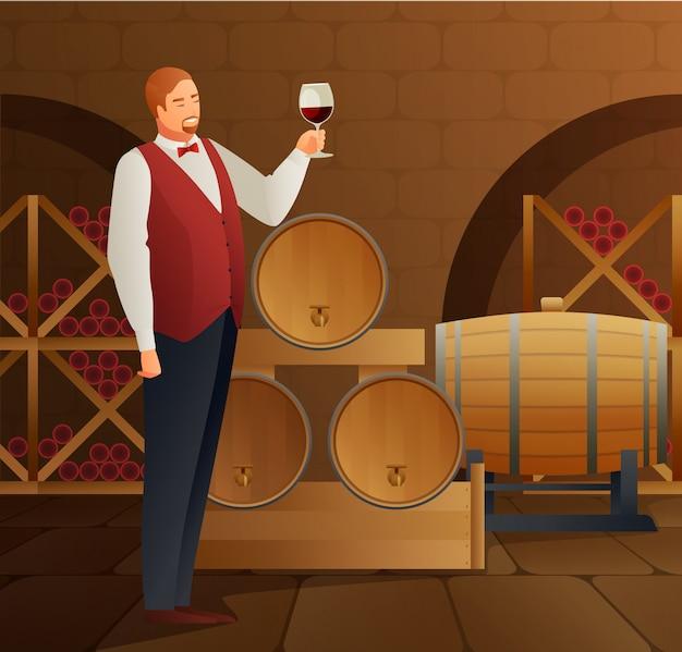Produção de vinho Vetor grátis