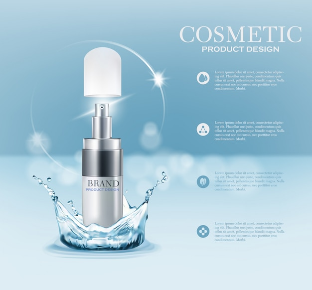 Produto de marca cosmética Vetor Premium