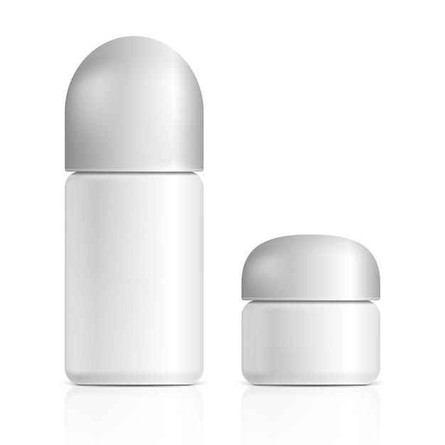 Produtos cosméticos. ilustração isolado Vetor Premium