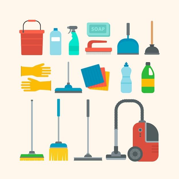 Produtos de limpeza de superfícies Vetor Premium