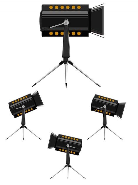Projectores de imagem vetorial Vetor Premium