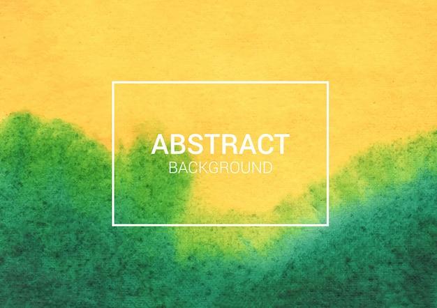 Projeto abstrato aquarela verde e amarelo Vetor Premium