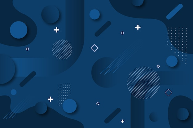 Projeto abstrato clássico azul Vetor grátis