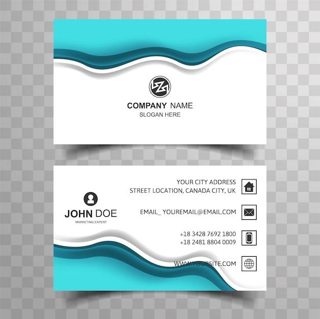 Projeto abstrato do cartão de visita da onda azul Vetor grátis