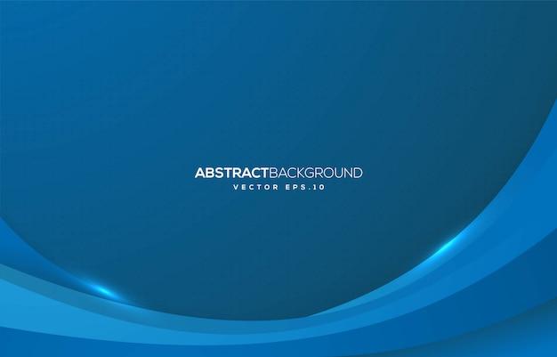 Projeto abstrato do fundo da onda com conceito moderno Vetor Premium