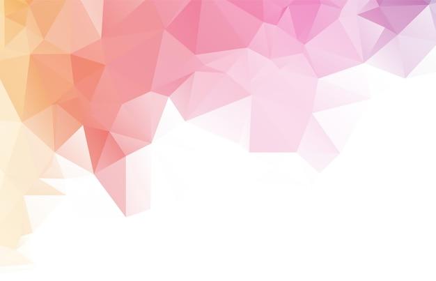 Projeto abstrato do fundo do polígono da cor Vetor Premium