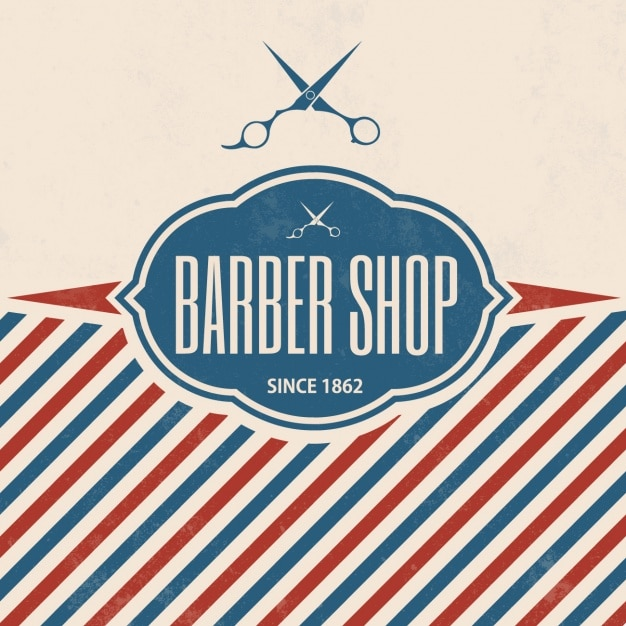 Projeto barbearia fundo Vetor grátis