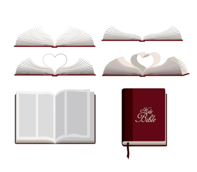 Projeto bíblia sagrada Vetor Premium
