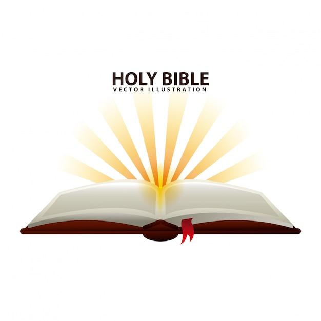 Projeto bíblico sagrado Vetor Premium
