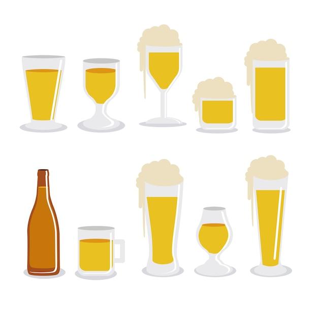 Projeto cervejas Vetor Premium