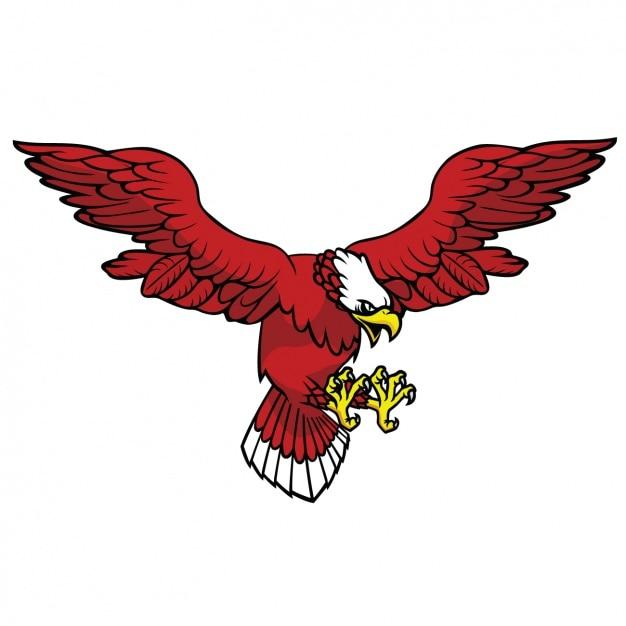 Projeto colorido águia Vetor grátis