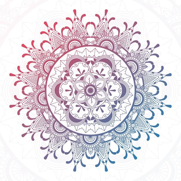 Projeto colorido da mandala Vetor grátis