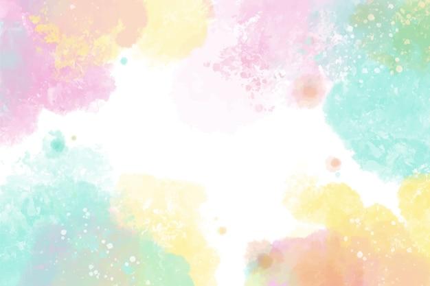 Projeto colorido de fundo aquarela Vetor Premium