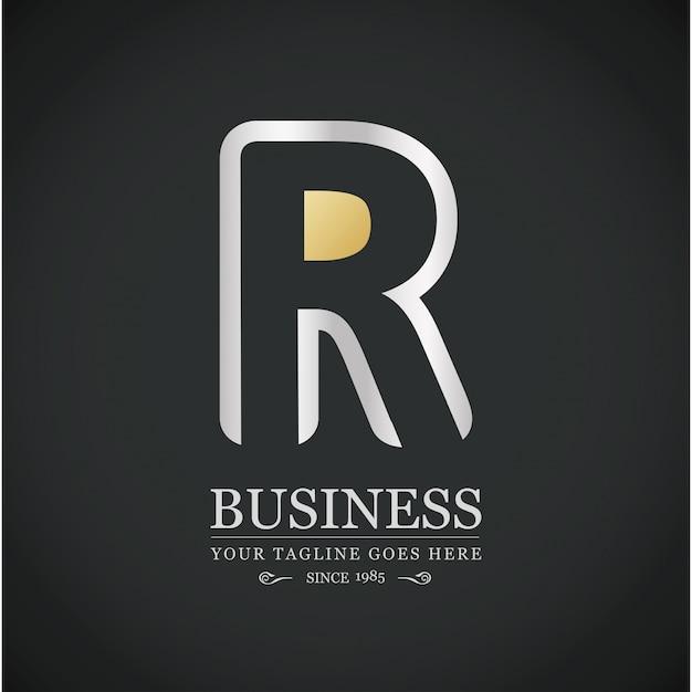Projeto colorido logo alfabeto logotipo r letter Vetor grátis