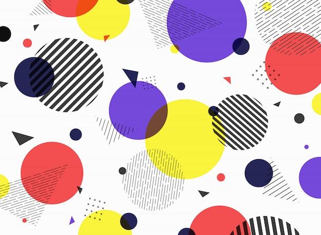 Projeto colorido simples geométrico da forma do teste padrão abstrato. Vetor Premium