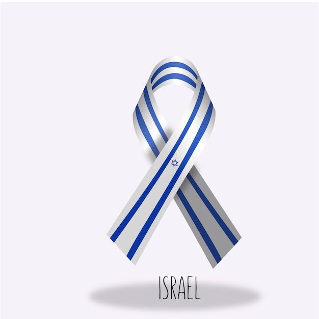 Projeto da fita da bandeira de israel Vetor grátis