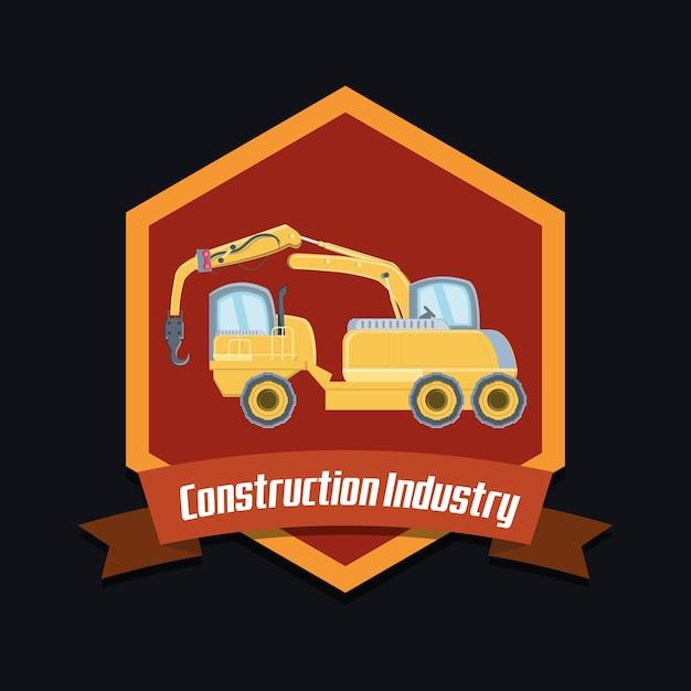 Projeto da indústria de construção Vetor Premium