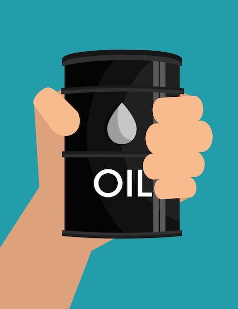 Projeto da indústria de petróleo Vetor Premium