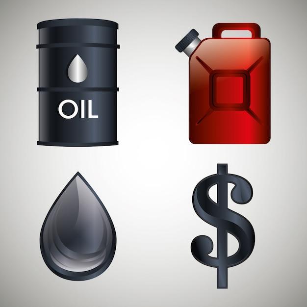 Projeto da indústria de petróleo. Vetor Premium