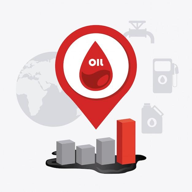Projeto da indústria de petróleo. Vetor grátis