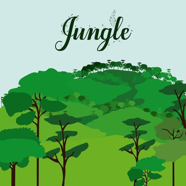 Projeto da selva Vetor Premium