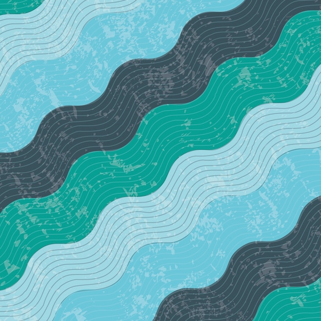 Projeto de água sobre ilustração em vetor fundo padrão Vetor Premium