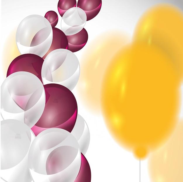 Projeto de aniversário Vetor Premium
