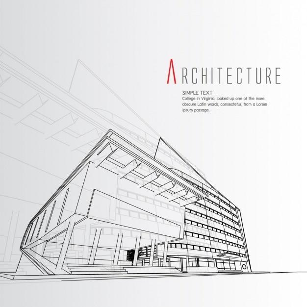 Projeto de arquitetura de fundo Vetor grátis