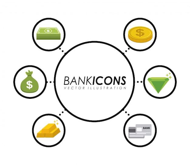 Projeto de banco Vetor Premium
