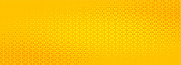 Projeto de banner abstrato do triângulo amarelo brilhante de meio-tom Vetor grátis