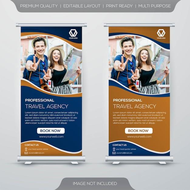Projeto de banner de carrinho de viagem Vetor Premium